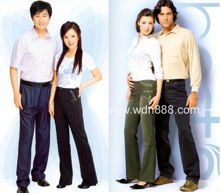 裤子的广告,仍然是经典的恩爱表情.女:买裤子 .男接:到百斯