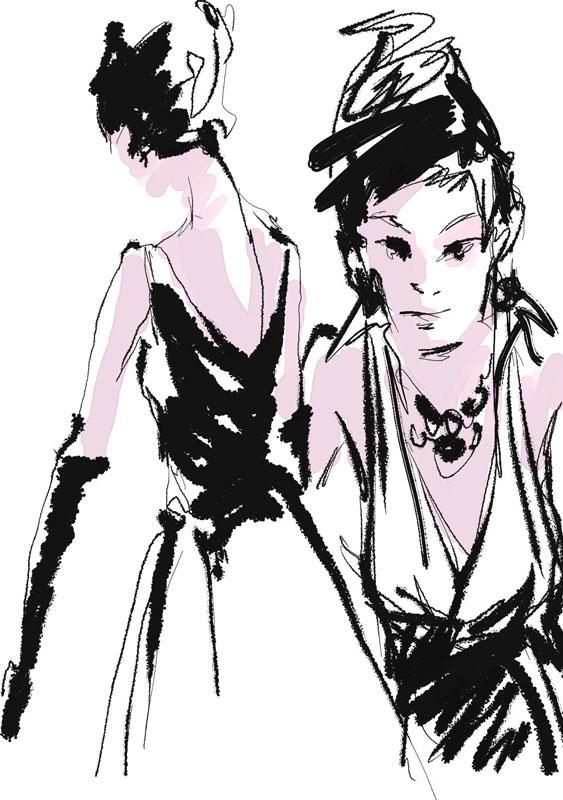 彩铅时尚服装设计图展示