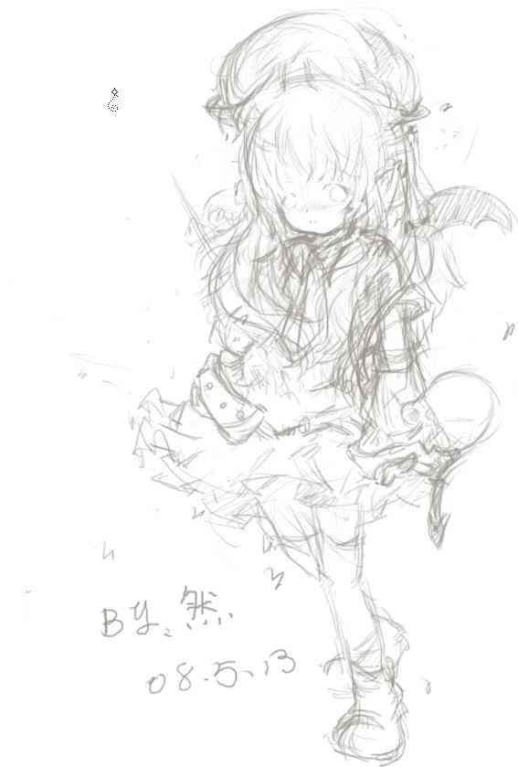 桃子素描图片步骤