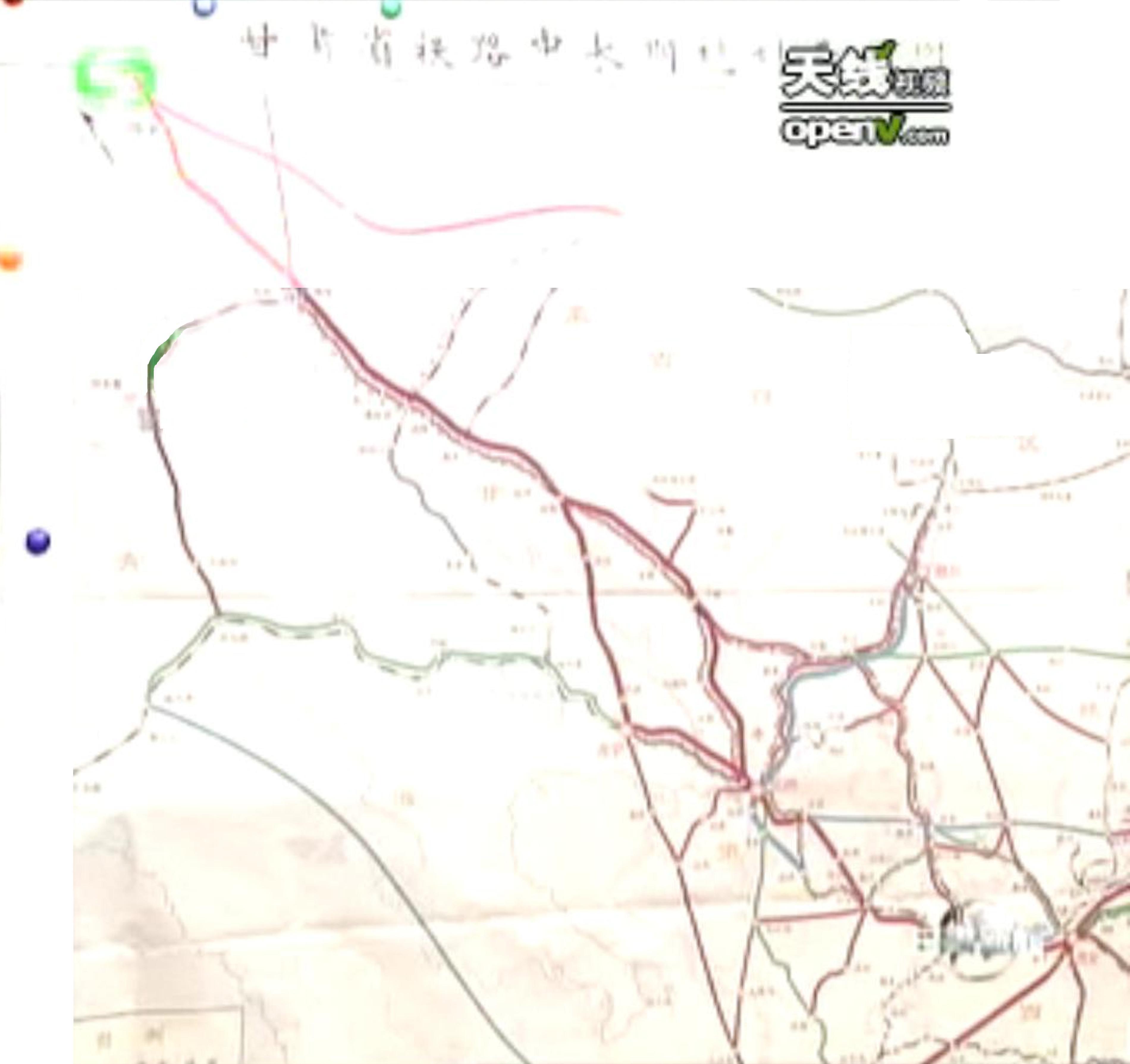 镜铁山--木里铁路列入甘肃省中长期铁路规划图; 铁路中长期规划图