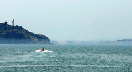 山东蓬莱同时出现海市蜃楼海滋景