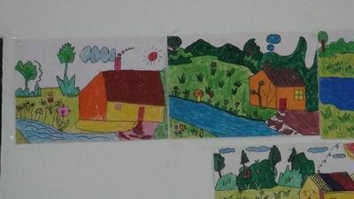 一年级手绘大合唱海报
