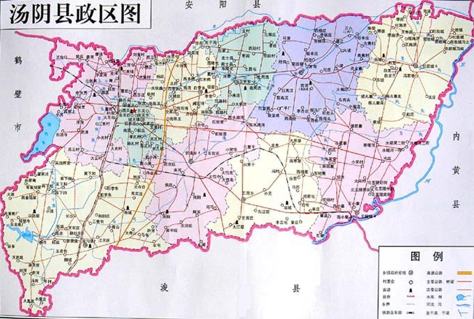 汤阴县政区地图