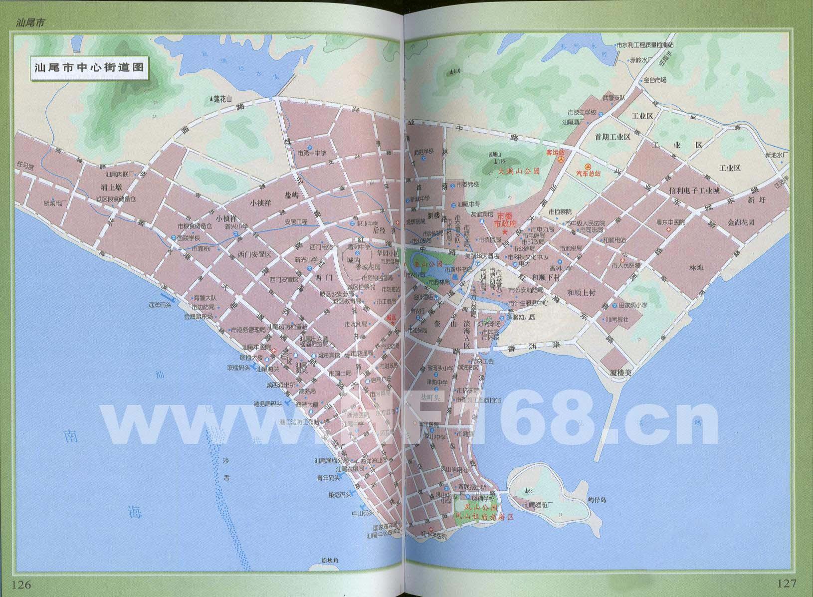 汕尾市中心街道地图