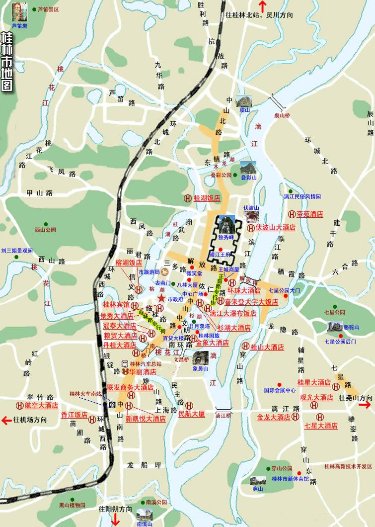 桂林尧山风景区地图